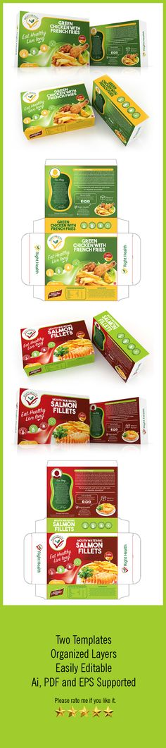 Fast Food box Template by graphicgrow High Quality Fast Food box Template. Features: Two Box Templates Easy Customizable and Editable Two optionCMYK Color Design in 300 Food Packaging Design, Packaging Design Inspiration, Label Design, Box Design, Package Design, Print Design, Graphic Design, Medical Packaging, Bag Packaging