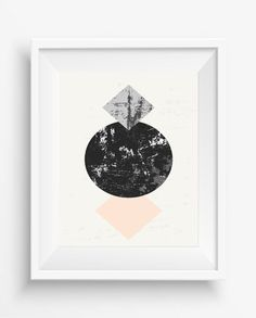 Abstract composition with textured geometric shapes in black, gray and pastel, Minimalist and art modern,square and circle prints