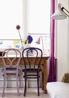 Lavender and purple accents