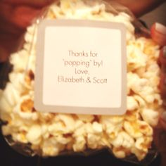 housewarming party favors- popcorn balls- thanks for popping by! Housewarming Party Favors, Super Party, Throw A Party, Party Entertainment, House Party, Party Gifts, Party Time, Party Party, Open House