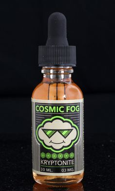 KRYPTONITE My only weakness! A vape that you couldn't put down to save your life, makes Kryptonite true to its name. A sweet and refreshing blend of cool melon paired with your favorite candy, makes a bottle of juice that you'll finish as fast as a speeding bullet.