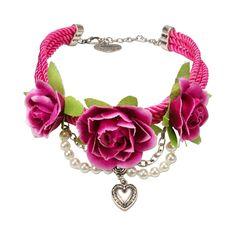 Blüten-Collier Celine (pink)