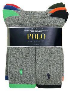 Polo Ralph Lauren Tipped Sport Crew Socks Set Men's Grey 10-13