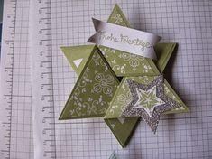 Stampin mit Scraproomboom: Sternenkarte Anleitung - Star fold card