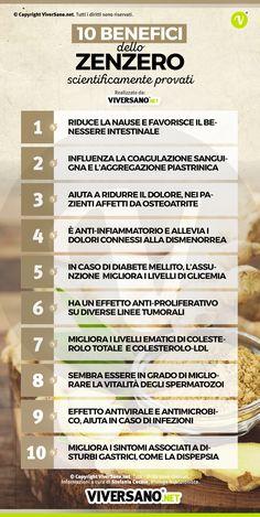 10 proprietà dello zenzero scientificamente provate #salute #alimentazione #viversano