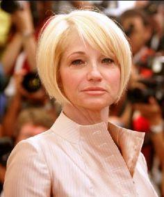 Actress Ellen Barkin's hair is cute here, too!
