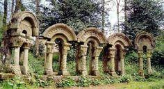 Garden in Mondariz Balneario Town, Pontevedra, Galicia, Spain