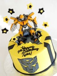 Transformers Bumblebee Cake for the boy