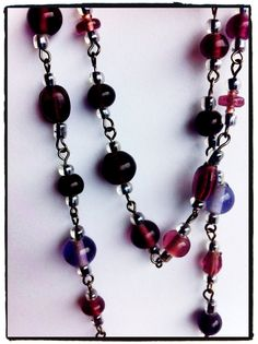 Extra long 1920s inspired purple necklace by Gazerie on Etsy, $20.00