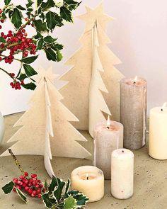 Árboles de Navidad de fieltro.