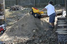 backyard dirt pile