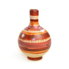 Vintage Mexico Clay Pottery Water Pitcher / Vase: Lovely folk art, southwestern home decor accent with warm, rustic presence! Available from OneRustyNail on Etsy. ► http://www.etsy.com/shop/OneRustyNail