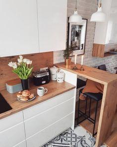 Southern Home Interior Small Kitchen Design Ideas Small Apartment Kitchen, Home Decor Kitchen, Interior Design Kitchen, Kitchen Ideas, Kitchen Living, Small Kitchen Designs, Ikea Small Kitchen, Kitchen White, Interior Ideas