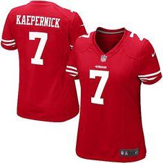 Nike Colin Kaepernick San Francisco 49ers Ladies Game Jersey – Scarlet