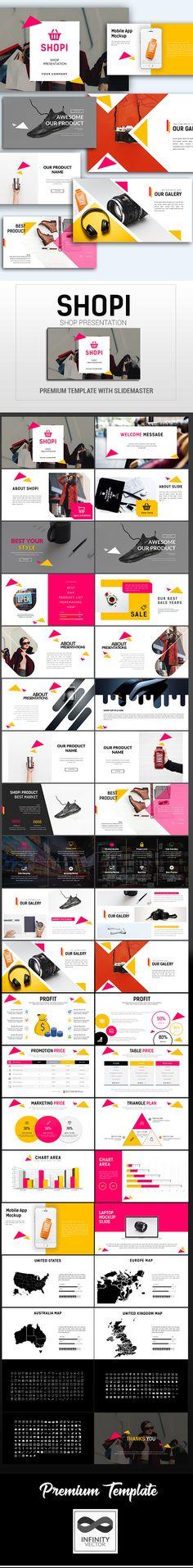 Shopi Shop Presentation Google Slide - #Google #Slides #Presentation Templates