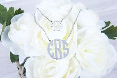 The perfect gift for brides, graduates, birthdays, or any special occasion is something personal they can cherish!  Shop our new #Monogram necklaces @ silverontheweb.com   FREE PRIORITY U.S. SHIPPING with $25 order - #jewelry #spring #gift #fashion #accessories #giftideas #monogrammed  #monogramnecklace #monogramjewelry #bride #bridesmaid #springstyle