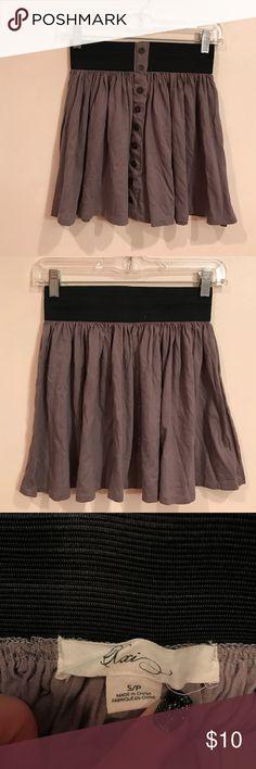 "Forever 21 Skirt Gently worn, good condition. Khaki button down skirt. Elastic waist. Length top to hem is 14.5"". Forever 21 Skirts Mini"