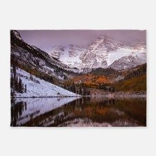 Maroon Bells from Maroon Lakenowmas 5'x7'Area Rug for
