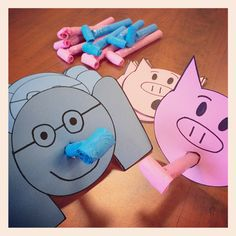 Elephant and Piggie Party Horns