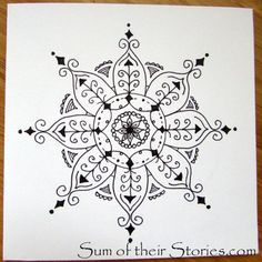 How To Draw Mandala Greeting Cards