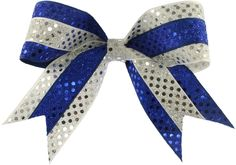 blue and geeen c heer bows | New Cheer Bows, Item SBFLIP03, Double Sequin Flip Bow XL with Sequin ...