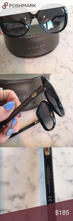 Authentic Gucci sunglasses Used ... in great condition, no scratches.. red and green stripes polarized Gucci Other