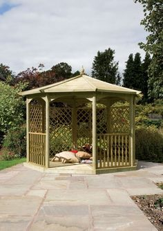 Wooden Garden Gazebo, Shade Structure, Diy Home Decor On A Budget, Pavilion, Shelter, Shed, Relax, Outdoor Structures, Fire