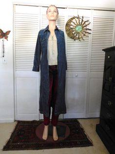 Denim Jean Dress Size 6 Hippie Boho Clothes Blue by LandofBridget