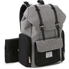 Eddie Bauer Legend Places & Spaces Back Pack Diaper Bag – Grey/Black, Gray Black - Modern Buy Backpack, Diaper Bag Backpack, Fashion Backpack, Black Backpack, Toys R Us, Couches, Eddie Bauer Diaper Bag, Boy Diaper Bags, Diaper Bags For Dads