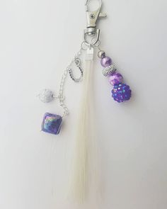 Items similar to Personalised Real Horse Hair Key Charm - Purple Horseshoe on Etsy Horse Hair Jewelry, Hair Jewellery, Belly Button Rings, My Etsy Shop, Charmed, Horses, Key, Drop Earrings, Purple