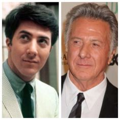 : Dustin Hoffman, b. 1937 I think he is one of the nicest actors in real life. Celebrities Before And After, Celebrities Then And Now, Hollywood Stars, Classic Hollywood, Actors Then And Now, Dustin Hoffman, Young Old, Child Actors, Celebrity Photos