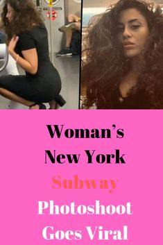 Woman's New York Subway Photoshoot Goes Viral Police Memes, Tv Head, New York Subway, Couples Images, Eye Roll, New York Post, Weird And Wonderful, Public Transport, Cute Baby Animals