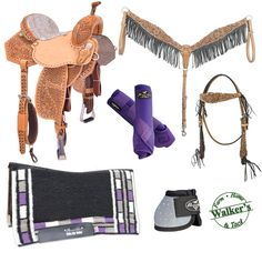 Purple & Silver Inspired Tack Set. Create your own at Walker's!