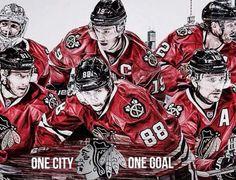 One City One Goal! Chicago Hockey, Chicago Girls, Chicago Cubs, Chicago Chicago, Hockey Rules, Hockey Mom, Hockey Stuff, Mlb Teams, Hockey Teams