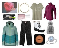 """""""Snow engagement!"""" by hailey-smith-13 ❤ liked on Polyvore featuring Marmot, New Balance, Silver Classics, Jet Set, Casetify, Zoe Karssen, NYX, Totes, Essie and Modern Bride"""