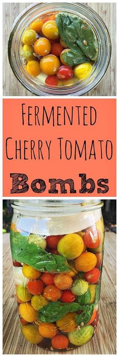 Tomato Recipes Here is a great way to preserve an excess of cherry tomatoes in the garden by fermenting! - When you have a lot of cherry tomatoes in your garden, this recipe for fermented cherry tomato bombs is the best way to preserve them. Fermentation Recipes, Canning Recipes, Canning Tips, Probiotic Foods, Fermented Foods, Ideas Sándwich, Real Food Recipes, Healthy Recipes, Real Foods