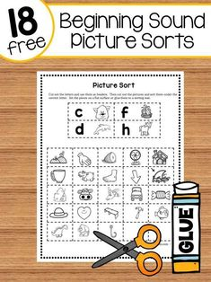 18 free picture sorts for beginning sounds 18 beginning sound picture sorts Teaching Phonics, Phonics Activities, Preschool Learning, Kindergarten Worksheets, Teaching Reading, Guided Reading, Jolly Phonics, Teaching Resources, Reading Tutoring