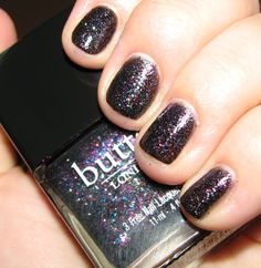 Butter London THE BLACK KNIGHT Nail Polish Swatches and Review – Holiday 2011 | BlushingNoir