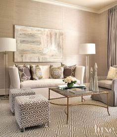 Transitional Formal Living Room ~ LuxeSource | Luxe Magazine - The Luxury Home Redefined ♥️