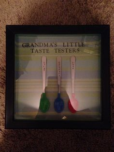 Grandma's little taste testers: baby spoons with child's name stamped into handle. Made for my mama