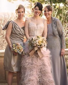 The Bridesmaids Wore Charcoal Gray Dresses In Various Silhouettes While Guys Coordinated Black Tu My Special Day Inspiration Pinterest