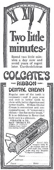 Old Colgate ad