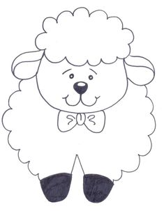 Bible School for Kids: Easter: Little Sheep with Messages for Coloring . Art Drawings For Kids, Drawing For Kids, Easy Drawings, Art For Kids, Quilt Baby, Easter Crafts For Kids, Preschool Crafts, Applique Patterns, Quilt Patterns