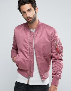 Alpha+Industries+MA-1+Bomber+Jacket+Insulated+In+Slim+Fit+Dusty+Pink