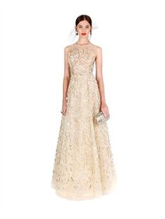 For the Festival Gala at @meadowoodnapa  Oscar de la Renta SLEEVELESS LAME AND SEQUIN EMBROIDERED GOWN