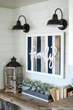 Is Time to Restock Our Reclaimed Wood Signs Navy, grey and white reclaimed wood family sign is perfect for any farmhouse decor!Navy, grey and white reclaimed wood family sign is perfect for any farmhouse decor! Home Decor Accessories, Decorative Accessories, Rustic Decor, Farmhouse Decor, Rustic Style, Modern Farmhouse, Farmhouse Style, Cottage Diy Decor, Wooden Decor