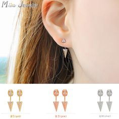 Do not miss the great opportunity to get the cool 3 Colors Stud Earrings For Women at JagFox. Punk Earrings, Fashion Earrings, Fashion Jewelry, Stud Earrings, New Product, Amazing Women, 925 Silver, Pure Products, Gold
