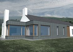 We industry leader in sustainable design, eco buildings Passive Architects Northern Ireland or passivhaus and Zero Carbon in Northern Ireland NI. House Designs Ireland, Houses In Ireland, Ireland Homes, Facade House, House Roof, House Facades, Building Design, Building A House, Cottage Extension