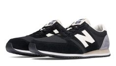 420 Heritage 70s Running, Black with Grey & Off White