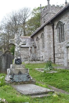 The grave of Stanhope Alexander Forbes and Elizabeth Adela Forbes in Sancreed